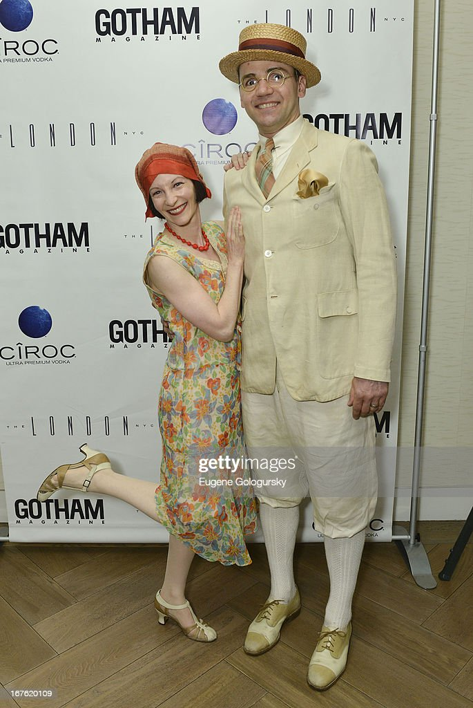 Heidi Rosenau and Joe McGlynn attend the Gotham Magazine Celebration with Cover Star Isla Fisher with Ciroc Vodka on April 26, 2013 in New York City.