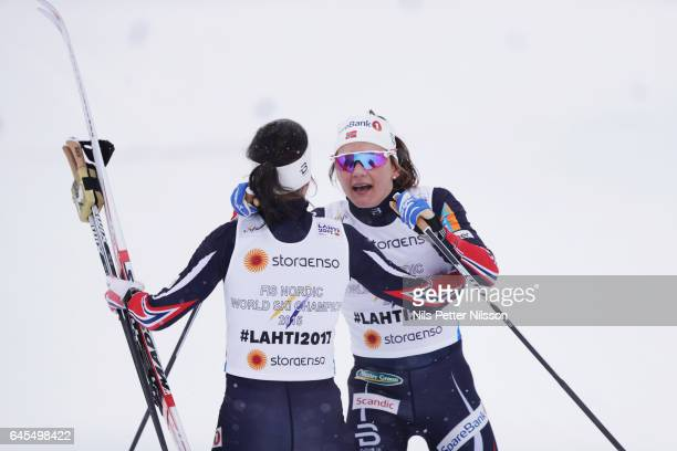 Heidi Weng and Maiken Caspersen Falla of Norway during the cross country team sprint during the FIS Nordic World Ski Championships on February 26...