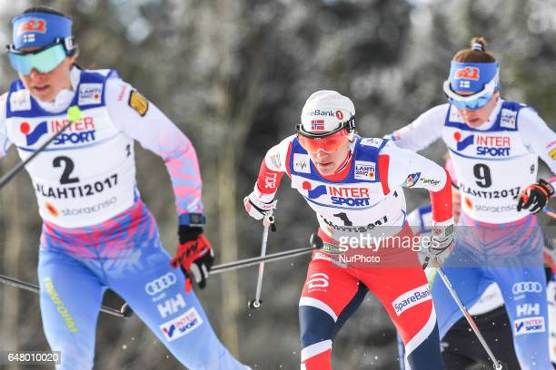 Heidi Weng from Norway during Ladies crosscountry 30 km Mass Start Free final at FIS Nordic World Ski Championship 2017 in Lahti On Saturday March 04...