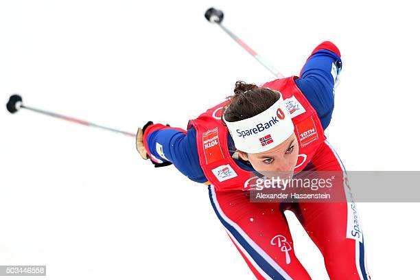 Heidi Weng of Norway competes at the Ladies 12km Classic Sprint Competition during day 1 of the FIS Tour de Ski event on January 5 2016 in Oberstdorf...