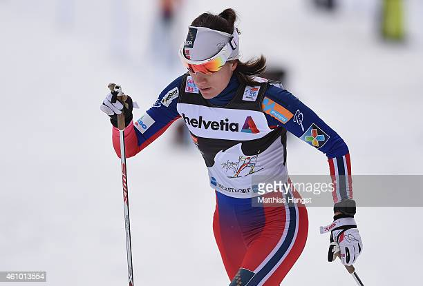 Heidi Weng of Norway competes during the Women's 10 km Pursuit Classic event for the FIS Cross Country World Cup Tour de Ski on January 4 2015 in...