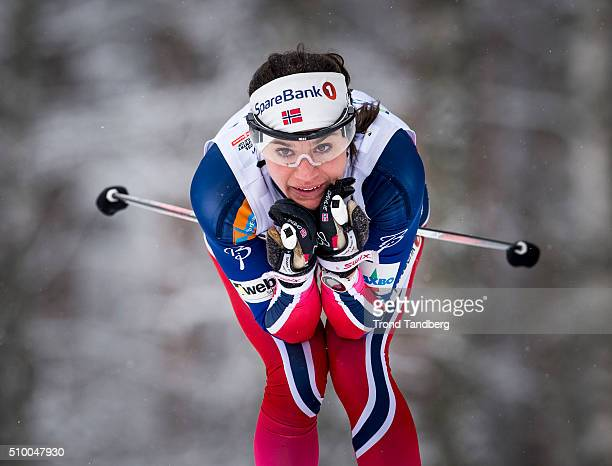 Heidi Weng of Norway during Cross Country Ladies 50 km Classic on February 13 2016 in Falun Sweden