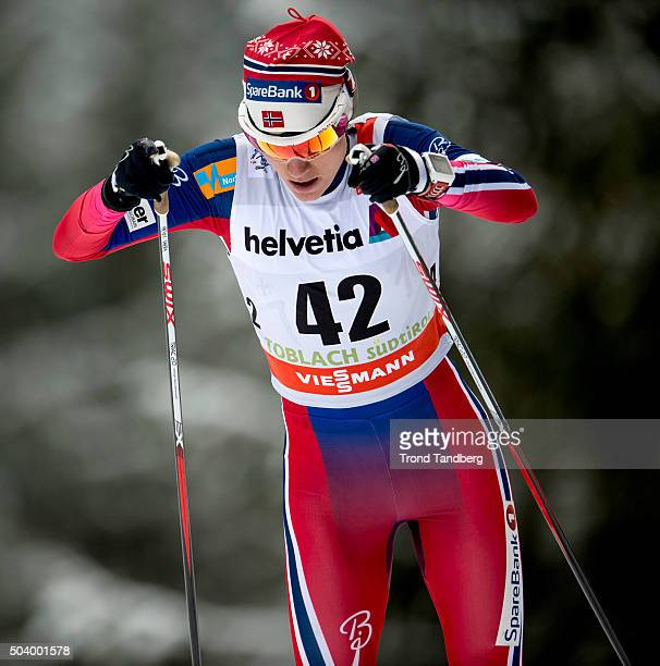 Heidi Weng of Norway during FIS Cross Country World Cup Tour de Ski Ladies 50 km Individual Free at Toblach on January 08 2016 in Toblach...