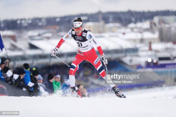 Heidi Weng of Norway during the cross country sprint during the FIS Nordic World Ski Championships on February 23 2017 in Lahti Finland