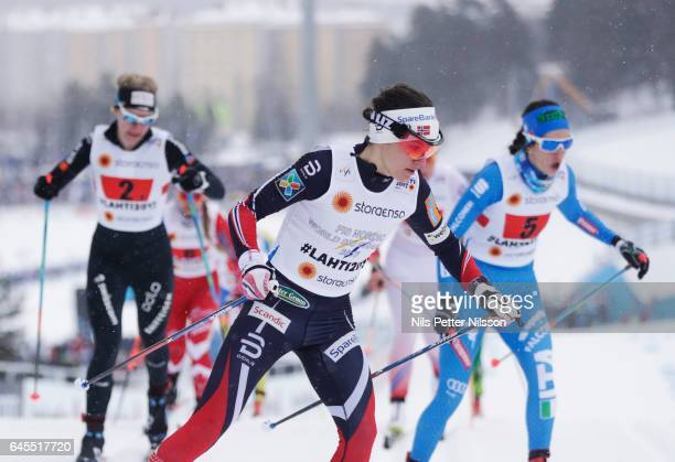 Heidi Weng of Norway during the cross country team sprint during the FIS Nordic World Ski Championships on February 26 2017 in Lahti Finland