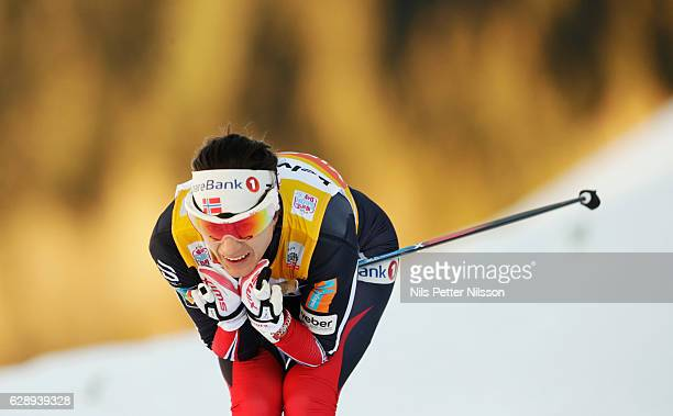 Heidi Weng of Norway during the Viessmann FIS Cross Country World Cup women's 15 km free technique on December 10 2016 in Davos Switzerland