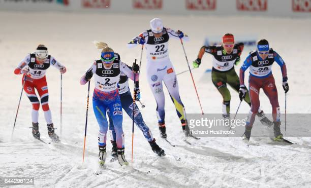 Heidi Weng of Norway Mari Laukkanen of Finland Jessica Diggins of the United States Ida Ingemarsdotter of Sweden Hanna Kolb of Germany and Yulia...