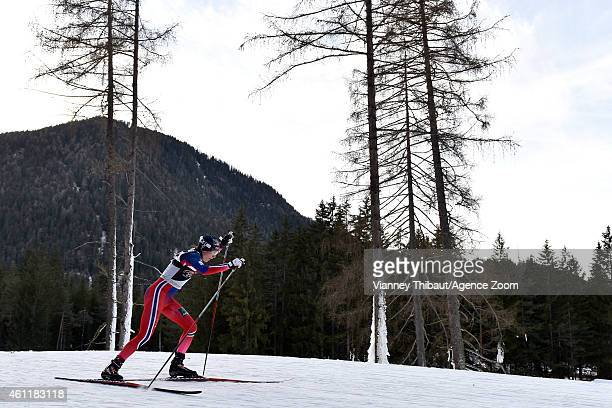 Heidi Weng of Norway takes 2nd place during the FIS CrossCountry World Cup Men's and Women's Pursuit on January 08 2015 in Toblach Italy