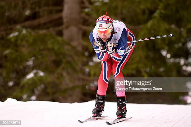 Heidi Weng of Norway takes 3rd place during the FIS Nordic World Cup Men's and Women's Cross Country Distance on December 12 2015 in Davos Switzerland