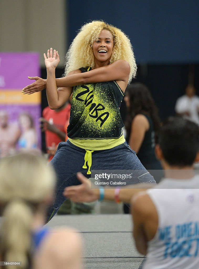Heidy Torres attends the Sweat USA America's All-Star Fitness Festival at the Miami Beach Convention Center on October 13, 2013 in Miami Beach, Florida.