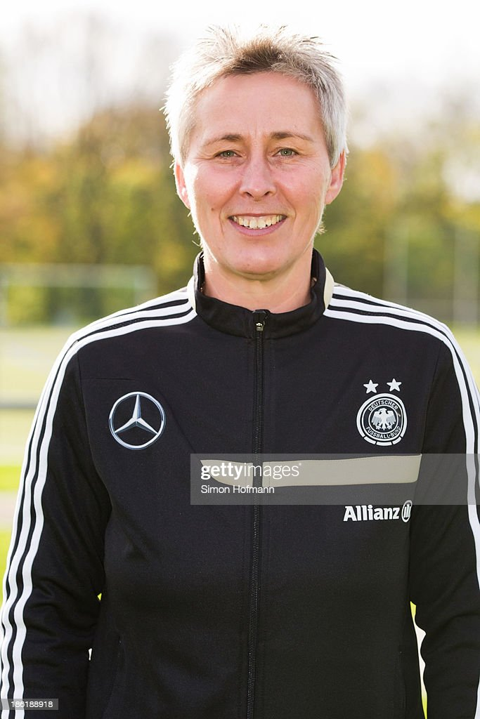 Heike Braune of Germany poses during the German Girls U15 national team presentation at Wiener Ring training ground on October 29, 2013 in Offenbach, Germany.
