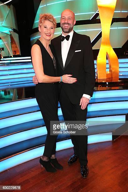 Heike Drechsler and her husband Paul Meier during the 'Sportler des Jahres 2016' Gala at Kurhaus on December 18 2016 in BadenBaden Germany