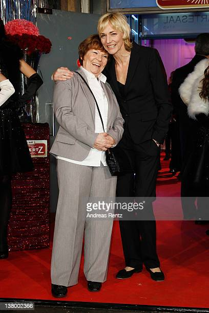 Heike Drechsler and her mother attend the 'Lambertz Monday Night' at Alter Wartesaal on January 30 2012 in Cologne Germany