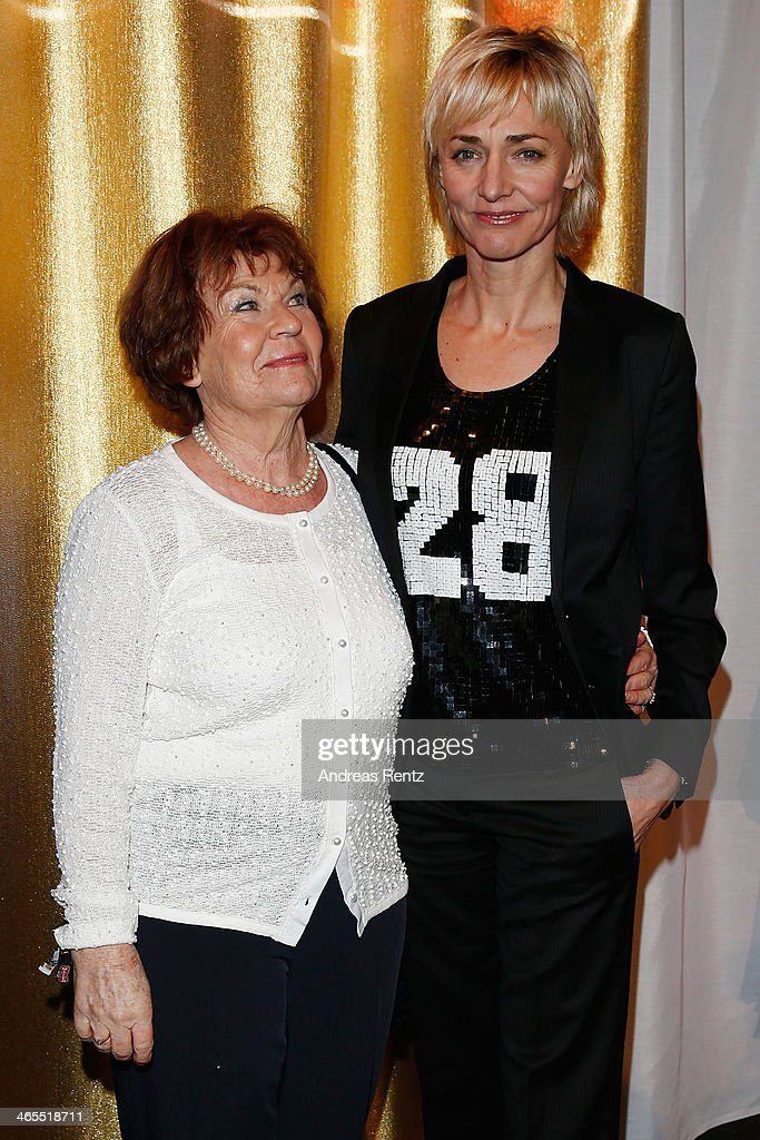 Heike Drechsler and her mother attend the Lambertz Monday Night at Alter Wartesaal on January 27, 2014 in Cologne, Germany.