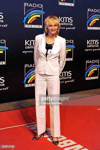 Heike Drechsler arrives for the Radio Regenbogen Award at the Schwarzwaldhalle on March 19 2010 in Karlsruhe Germany