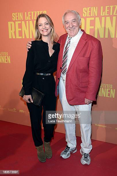 Heike Makatsch and Dieter Hallervorden attend the 'Sein letztes Rennen' Premiere at Kino in der Kulturbrauerei on October 7 2013 in Berlin Germany
