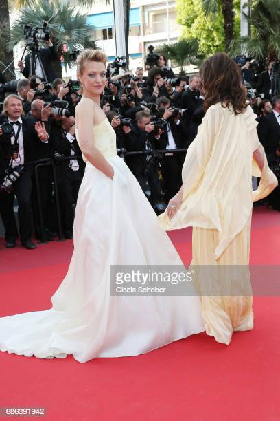 Heike Makatsch and Iris Berben attend the 'The Meyerowitz Stories' screening during the 70th annual Cannes Film Festival at Palais des Festivals on...