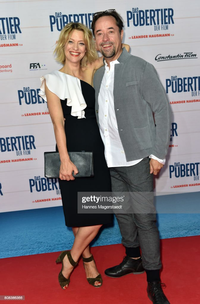 Heike Makatsch and Jan Josef Liefers during the 'Das Pubertier' Premiere at Mathaeser Filmpalast on July 4, 2017 in Munich, Germany.