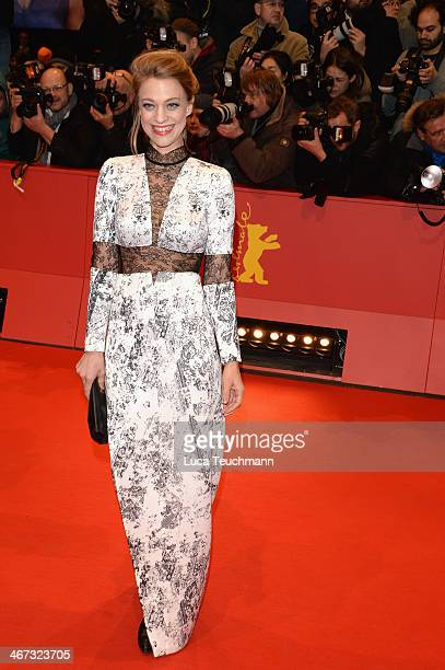 Heike Makatsch attends 'The Grand Budapest Hotel' Premiere during the 64th Berlinale International Film Festival at Berlinale Palast on February 6...