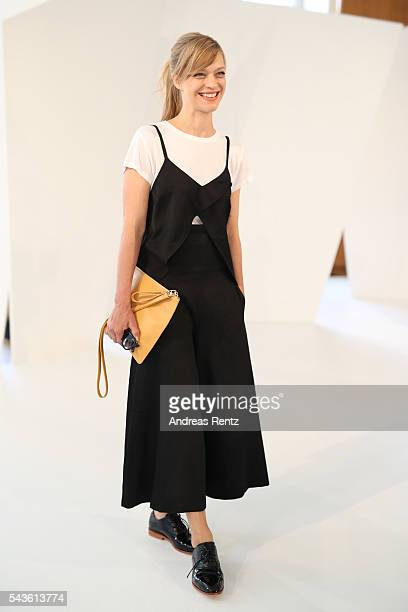 Heike Makatsch attends the Malaikaraiss defilee during the Der Berliner Mode Salon Spring/Summer 2017 at Kronprinzenpalais on June 28 2016 in Berlin...