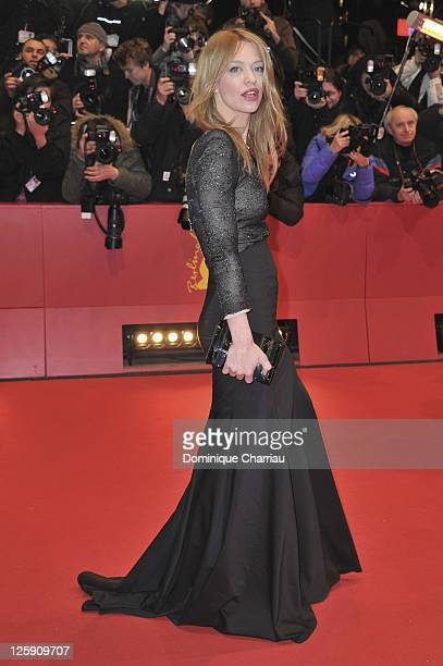 Heike Makatsch attends the 'True Grit' Premiere during the opening day of the 61st Berlin International Film Festival at Berlinale Palace on February...