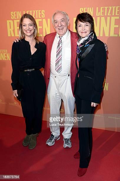 Heike Makatsch Dieter Hallervorden and Katrin Sass attend the 'Sein letztes Rennen' Premiere at Kino in der Kulturbrauerei on October 7 2013 in...