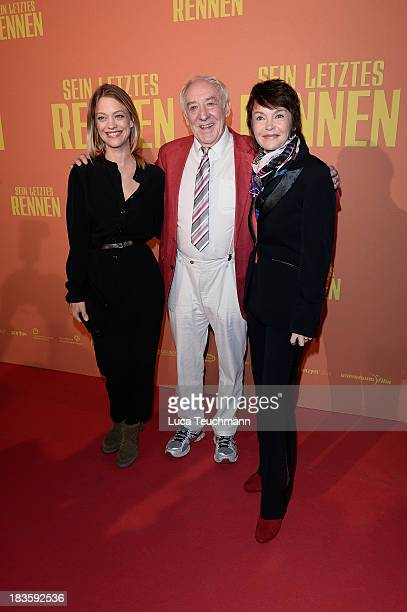 Heike Makatsch Dieter Hallervorden and Katrin Sass attend the 'Sein letztes Rennen' Premiere at Kino in der Kulturbrauerei on October 7 2013 in...