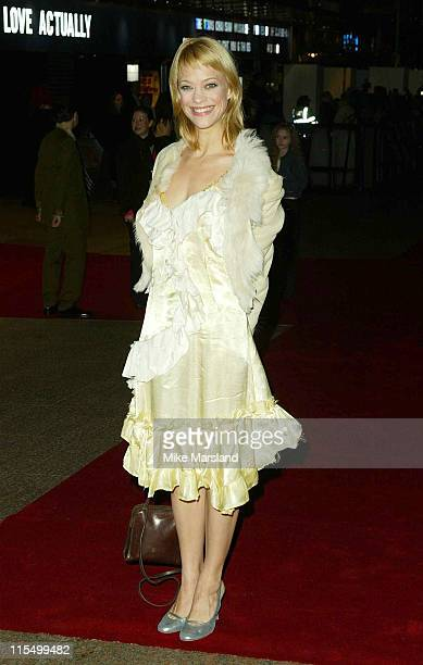 Heike Makatsch during 'Love Actually' London Premiere Arrivals at The Odeon Leicester Square in London United Kingdom