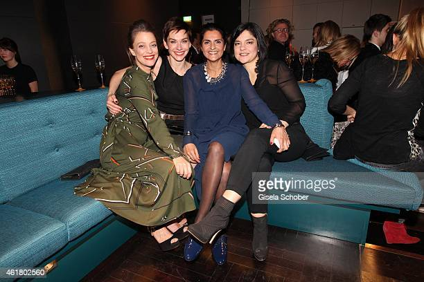 Heike MakatschChristiane Paul Designer Leyla Piedayesh Jasmin Tabatabai attend the LaLa Berlin Dinner with Cinderella during the MercedesBenz Fashion...