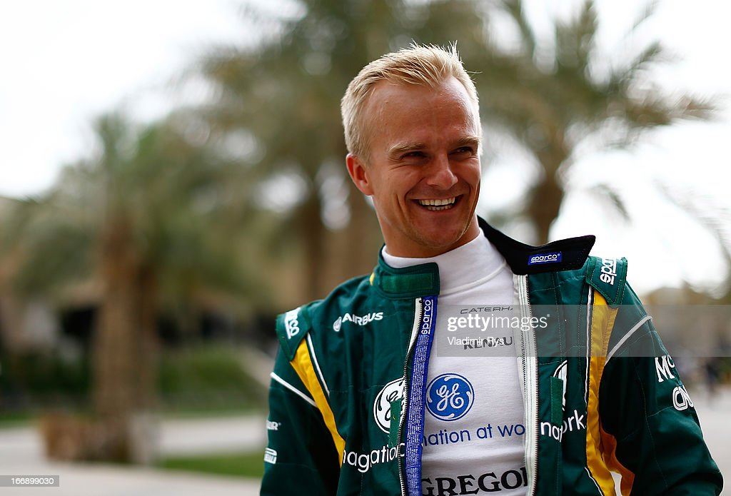 <a gi-track='captionPersonalityLinkClicked' href=/galleries/search?phrase=Heikki+Kovalainen&family=editorial&specificpeople=540624 ng-click='$event.stopPropagation()'>Heikki Kovalainen</a> of Finland and Caterham is seen in the paddock during previews for the Bahrain Formula One Grand Prix at the Bahrain International Circuit on April 18, 2013 in Sakhir, Bahrain.