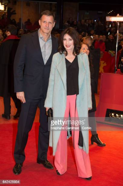 Heiko Kiesow and actress Iris Berben attend the 'Logan' premiere during the 67th Berlinale International Film Festival Berlin at Berlinale Palace on...
