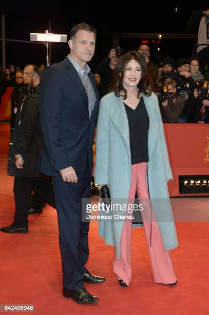 Heiko Kiesow and Iris Berben attend the 'Logan' premiere during the 67th Berlinale International Film Festival Berlin at Berlinale Palace on February...