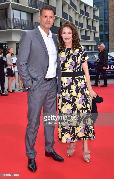 Heiko Kiesow and Iris Berben attend the Opening Gala Of The 23 Jewish Film Festival Berlin And Brandenburg 2017 at Hans Otto Theater on July 2 2017...