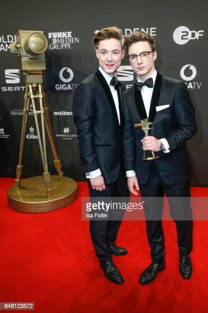 Heiko Lochmann and his brother Roman Lochmann alias 'Die Lochis' arrive for the Goldene Kamera on March 4 2017 in Hamburg Germany