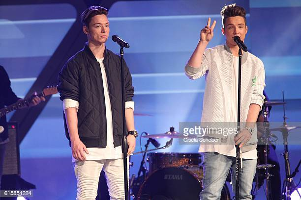 Heiko Lochmann and his twin brother Roman Lochmann during the Tribute To Bambi show at Station on October 6 2016 in Berlin Germany