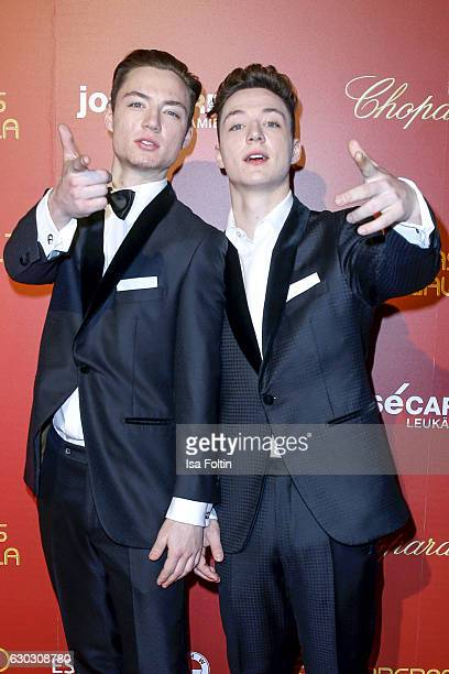 Heiko Lochmann and his twin Roman Lochmann alias 'Die Lochis' attend the 22th Annual Jose Carreras Gala on December 14 2016 in Berlin Germany