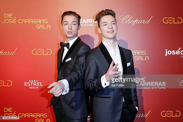 Heiko Lochmann and his twin Roman Lochmann alias 'Die Lochis' attend the 22th Annual Jose Carreras Gala on December 14 2016 in Berlin Germany