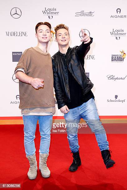 Heiko Lochmann and Roman Lochmann alias 'Die Lochis' attend the Tribute To Bambi at Station on October 6 2016 in Berlin Germany