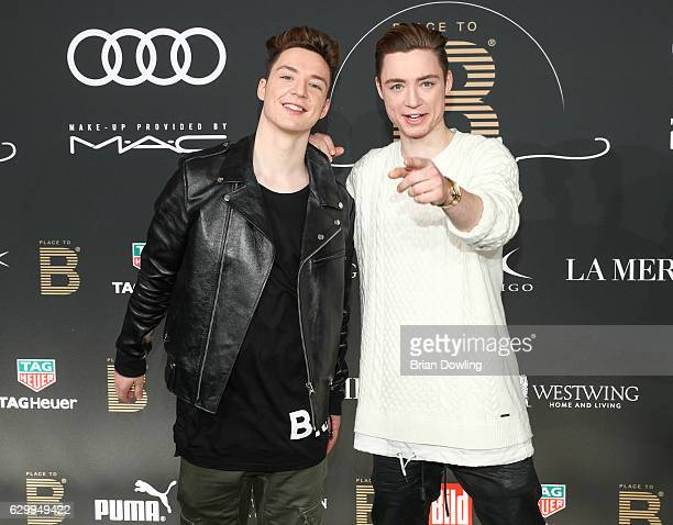 Heiko Lochmann and Roman Lochmann arrive at the Place To B Influencer Award at Axel Springer Haus on December 15 2016 in Berlin Germany