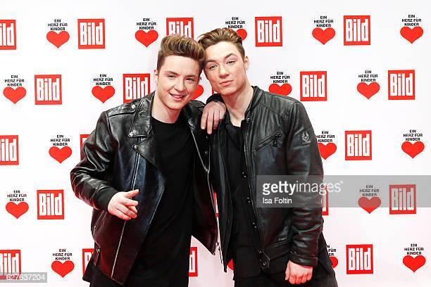Heiko Lochmann and Roman Lochmann attend the Ein Herz Fuer Kinder gala on December 3 2016 in Berlin Germany