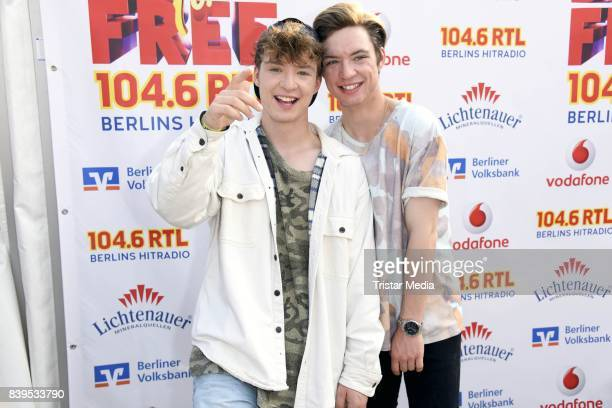 Heiko Lochmann Roman Lochmann of Die Lochis during the 'Stars for Free' open air festival by 1046 RTL radio station at KindlBuehne Wuhlheide on...