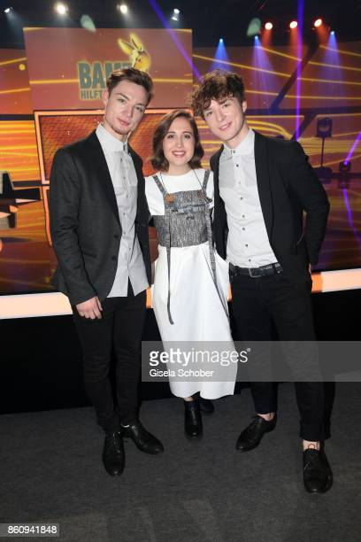 Heiko Lochmann Singer Alice Merton and Roman Lochmann die Lochis during the 'Tribute To Bambi' gala at Station on October 5 2017 in Berlin Germany