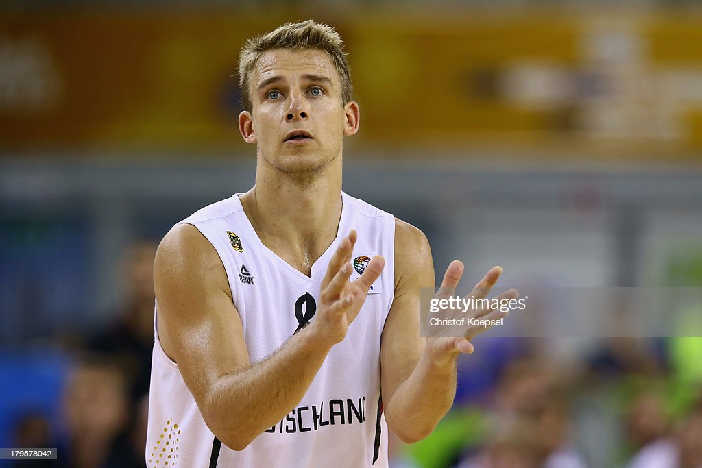 Heiko Schaffartzik of Gemany looks dejected during the FIBA European Championships 2013 first round group A match between Germany and Belgium at Tivoli Arena on September 5, 2013 in Ljubljana, Slovenia. The match between Germany and Belgium ended 73-77 after extra time.