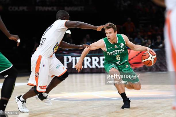 Heiko Schaffartzik of Nanterre during the Final of the French Cup between Le Mans and JSF Nanterre at AccorHotels Arena on April 22 2017 in Paris...