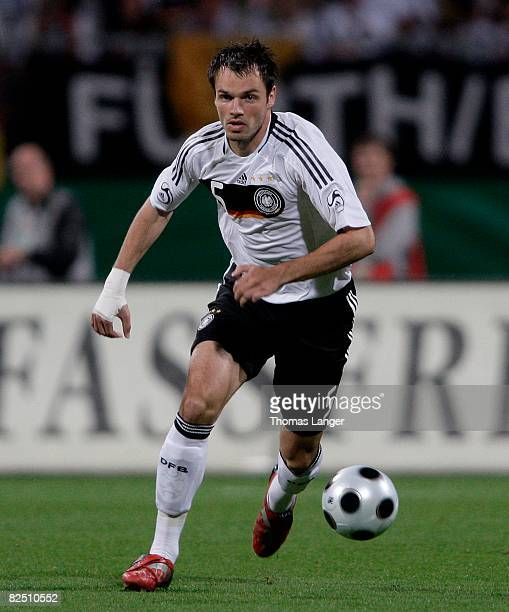 Heiko Westermann of Germany chases the ball during the international friendly match between Germany and Belgium at the easyCredit stadium on August...
