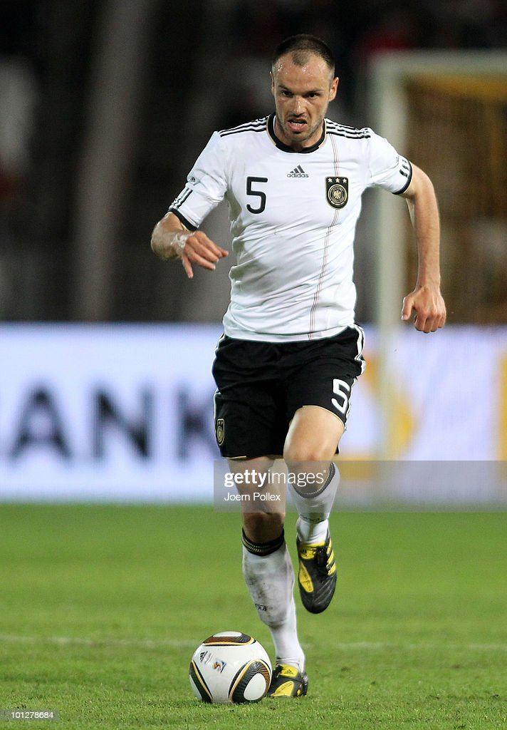 <a gi-track='captionPersonalityLinkClicked' href=/galleries/search?phrase=Heiko+Westermann&family=editorial&specificpeople=623650 ng-click='$event.stopPropagation()'>Heiko Westermann</a> of Germany runs with the ball during the international friendly match between Hungary and Germany at the Ferenc Puskas Stadium on May 29, 2010 in Budapest, Hungary.