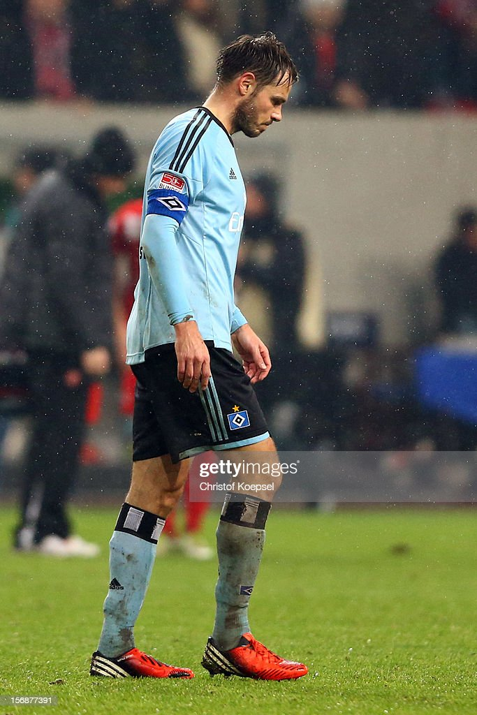 <a gi-track='captionPersonalityLinkClicked' href=/galleries/search?phrase=Heiko+Westermann&family=editorial&specificpeople=623650 ng-click='$event.stopPropagation()'>Heiko Westermann</a> of Hamburg looks dejected after the Bundesliga match between Fortuna Duesseldorf and Hamburger SV at Esprit-Arena on November 23, 2012 in Duesseldorf, Germany. The match between Duesseldorf and Hamburg ended 2-0.