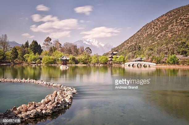Heilongtan (Black Dragon Pond) in Jade Spring Park, Lijiang, Yunnan, China, Asia