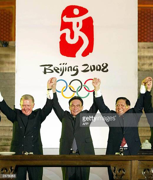 Hein Verbruggen chairman of the Coordination Commission at the International Olympic Committee for the 2008 Beijing Olympics Chinese National...