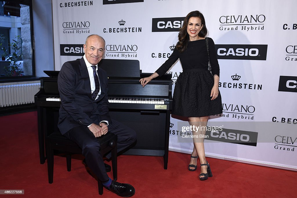 Heiner Lauterbach and his wife Viktoria during the 'Casio Celviano Grand Hybrid Digital Piano Launch Gala' at Meistersaal on September 2 2015 in...